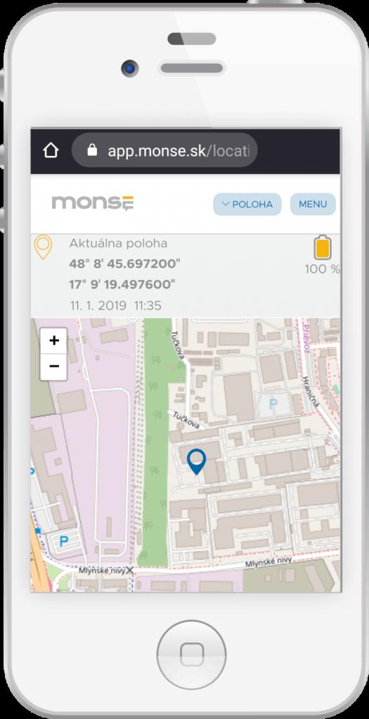 MONSE mobil mapa